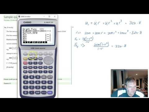 Geometric sequence sum - Calculator question