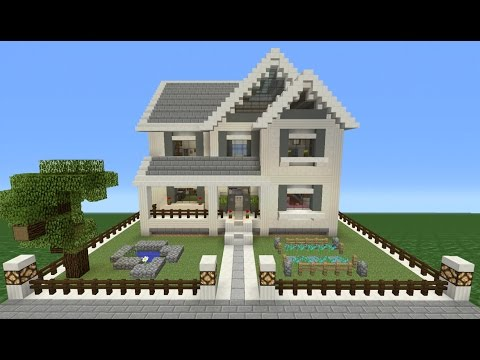 Minecraft Tutorial: How To Make A Suburban House - 10