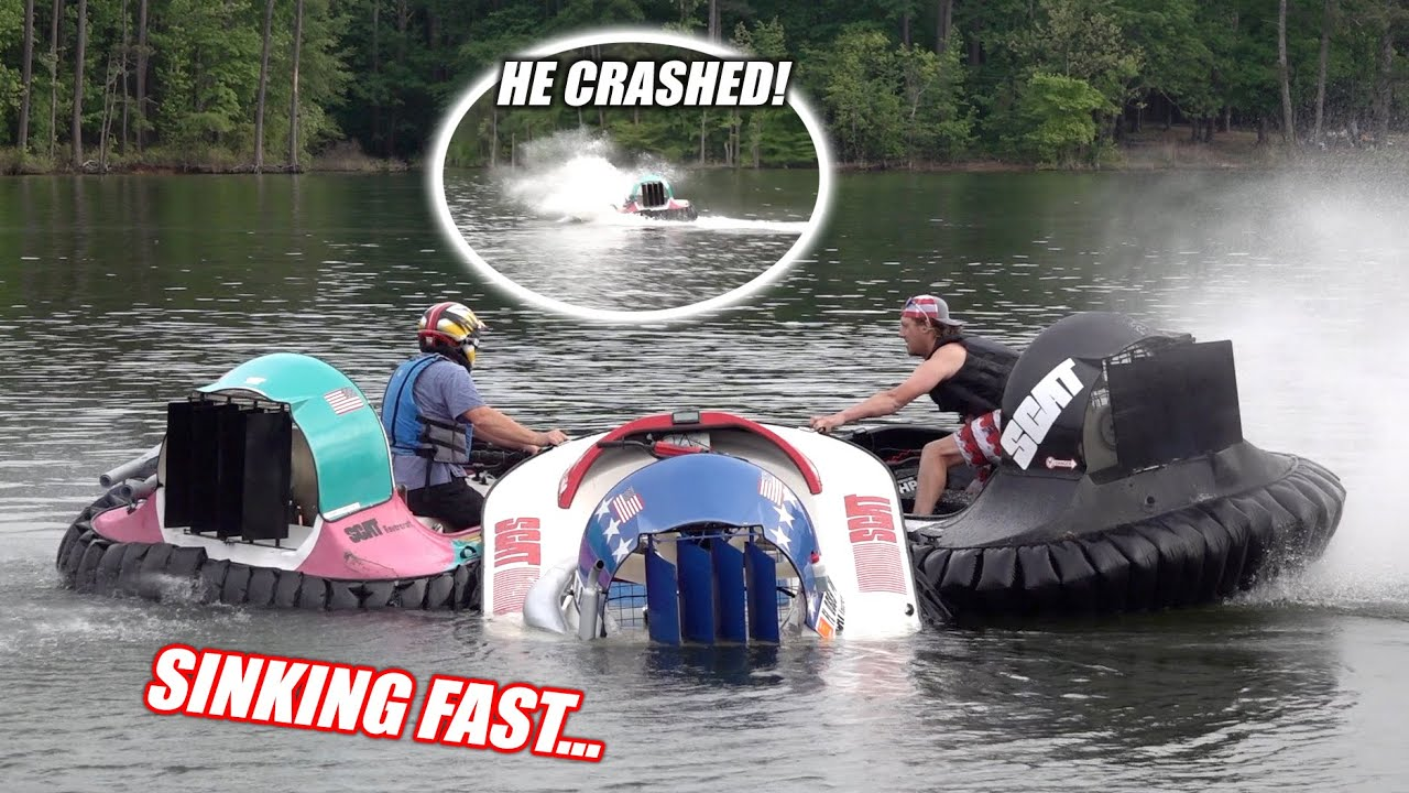 Our First Hovercraft Accident... Followed By Another Sinking... IT WAS CRAZY!!! (ft. Finnegan)