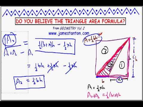 Do you Believe the Area Formula for Triangles? (Tanton Mathematics)