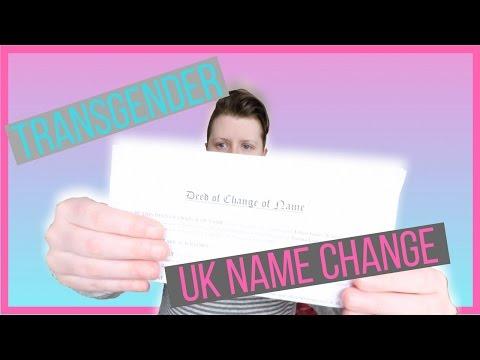 LEGALLY CHANGING MY NAME [UK FtM TRANSGENDER]