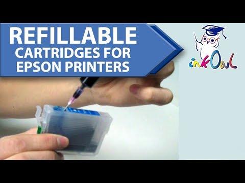 InkOwl Spongeless Refillable Cartridges for EPSON printers