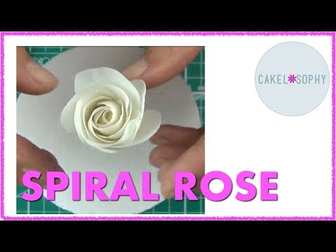 Spiral Rose  out of Gumpaste : a 'How to'  Demo