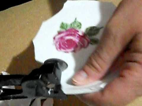 How to cut china plate for mosaic art