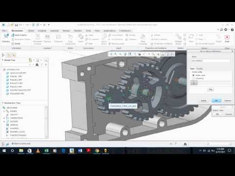 CREO PARAMETRIC 2  GEAR BOX DESIGN