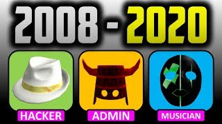 The History of Roblox's RAREST Hats With Only 1 Owner!