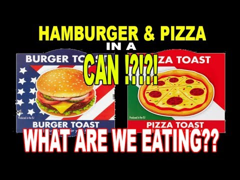 Hamburger & Pizza IN A CAN? - WHAT ARE WE EATING?? - The Wolfe Pit