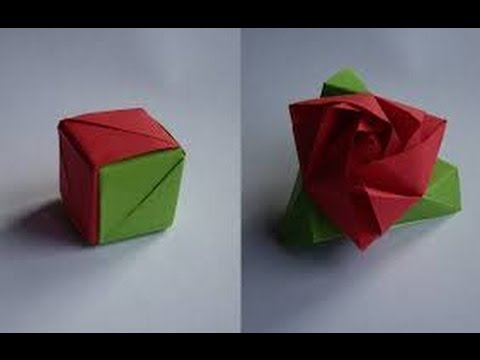 How to make an origami rose cube