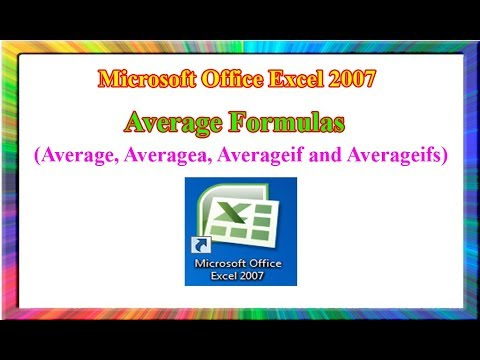 Excel 2007: how to use average formulas in excel