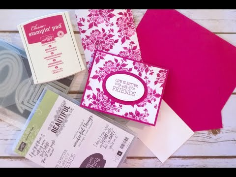 Fresh Floral Greeting Card | Stampin Up