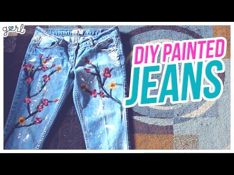 Do It, Gurl – DIY Painted Jeans