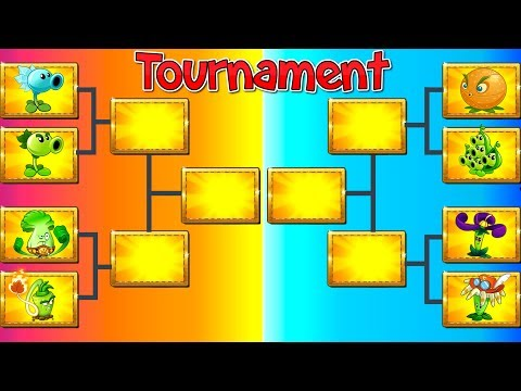 Plants vs Zombies 2 Tournament Every Plant Max Level Gameplay Who is the Winner?