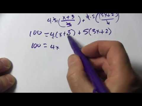 Solving Linear Equations with Fractional Forms with Binomial Numerators
