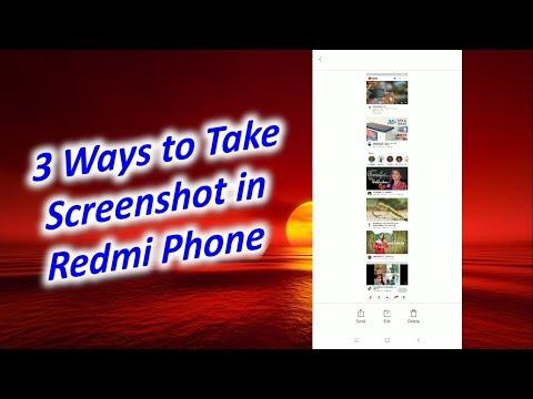 How to Take Screenshot in Redmi Phone