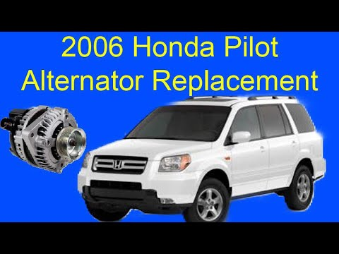 2006 Honda Pilot Alternator Replacement