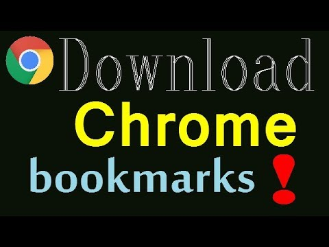 How to download or export Google Chrome bookmarks?