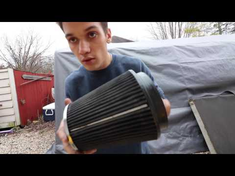 Cleaning The Air Filter In A 2003 Mustang Mach 1! - More Power?