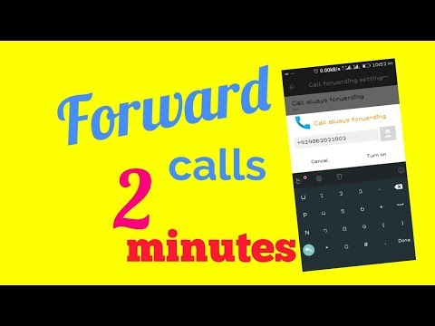 Call Forwarding|| How to forward calls to another numberon android || Call divert in android Gionee