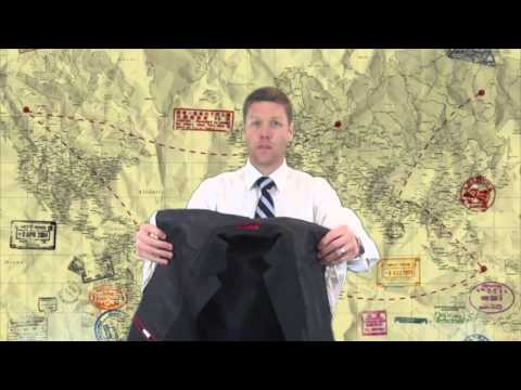 How to roll a suit How to pack a suit Inside Out Method
