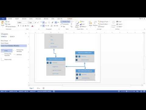 Visio 2013 - Database DIagram (Crows Foot Notation)