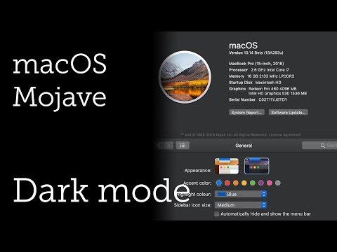 Dark Theme for macOS Mojave