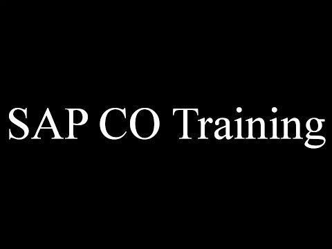 SAP CO Training - Cost Center Master Data (Video 5) | SAP CO Controlling