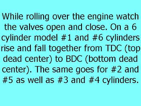 Setting Diesel Engine Valves Using  The Rocker Method