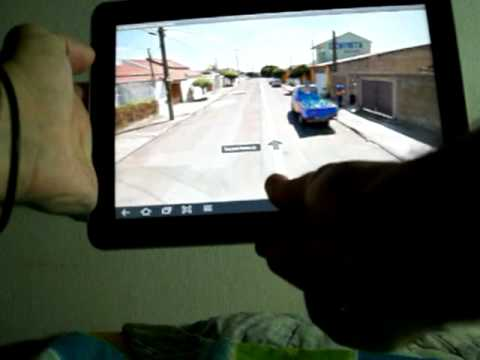 Usando o Google Street View no Galaxy Tab 10.1 no Modo Bússola