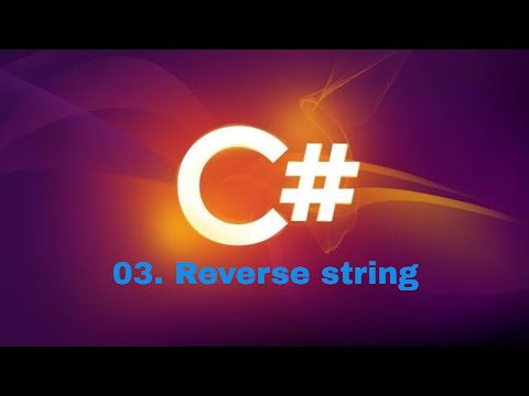 reverse a string in c#