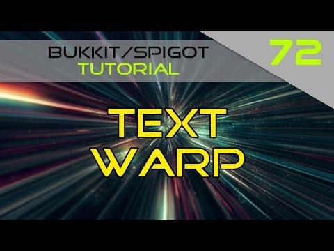 Minecraft Bukkit/Spigot Plugin Tutorial #72: Text Warp #1