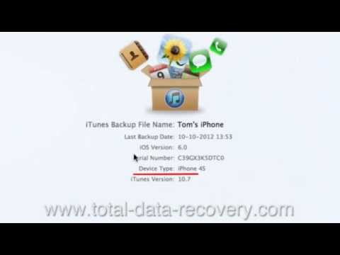 [iTunes] How to Recover Lost Call History on iPhone 4S from iTunes backup ?