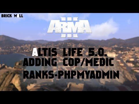 Altis Life 5.0. Tutorial #4: Adding cop/medic ranks PhpMyAdmin