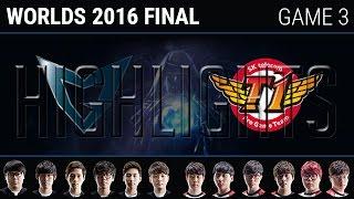 SKT vs SSG Game 3 Highlights, S6 Worlds 2016 Grand Final, SK Telecom T1 vs Samsung Galaxy G3