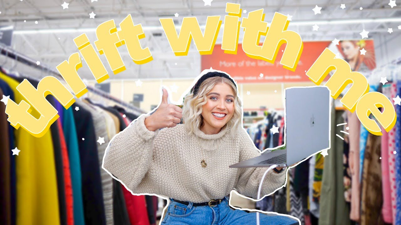 COME THRIFT WITH ME *online* | thrifting on GOODWILL, ETSY + DEPOP | Try On Thrift Store HAUL