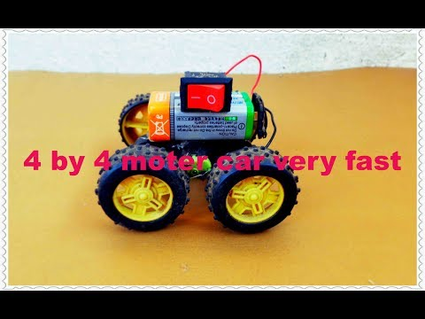 how to make a 4 by 4 motor car at home very easy