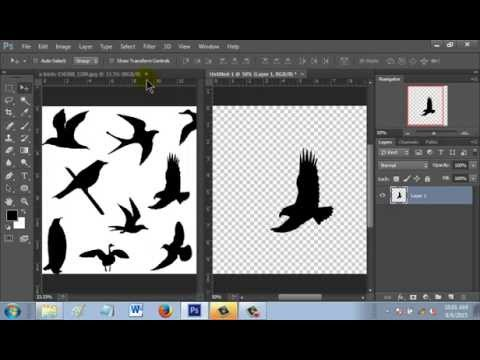 How to cut image using magic wand tool in Photoshop