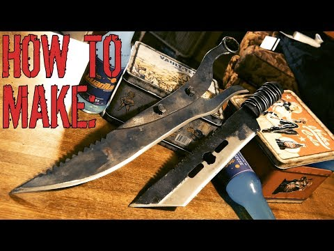 DOUBLE BUILD: How to Make the Disciple's Cutlass and THR0ATSLICER (Fallout 4)