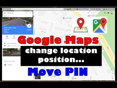 Google Maps - How to edit PIN or Label position for saved locations, modify a favorite place, map