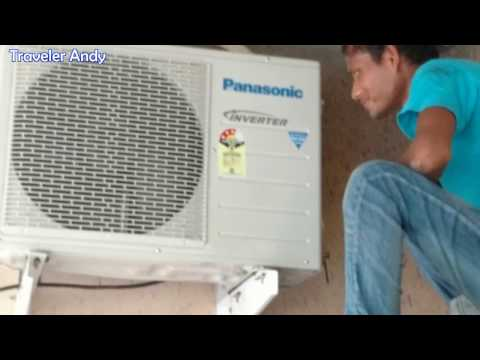 Panasonic Split AC Gas Leak Test Process | How to Check Air Conditioner Outdoor Unit Gas Leakage