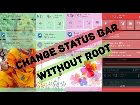 How to Change Android Status Bar  (No #ROOT ) Easy to Use
