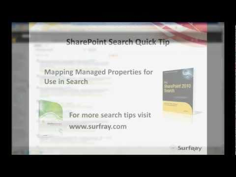Mapping a Managed Property in SharePoint - SharePoint Search Quick Tip 4