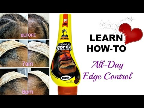 Gorilla Snot Hair Gel on Natural Hair - BEST, ALL DAY Edge Control!!