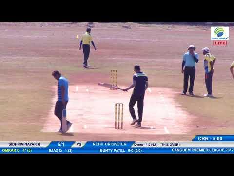 Rohit Cricketer vs Sidhhivinayak U match #SANGUEM PREMIER LEAGUE 2017, SANGUEM -GOA