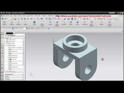 Siemens Nx CAD Basic Modeling Training Tutorial for Beginner - 1   UG NX