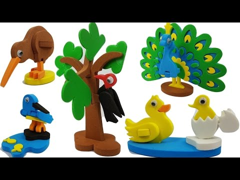 DIY Making 3D Birds for Kids | 13 Different Birds From Around The World | Craft House for Children