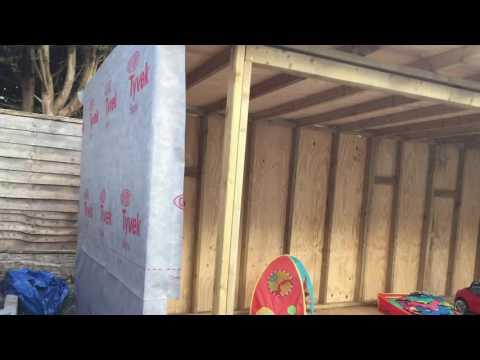 Garden timber building with cedar cladding project