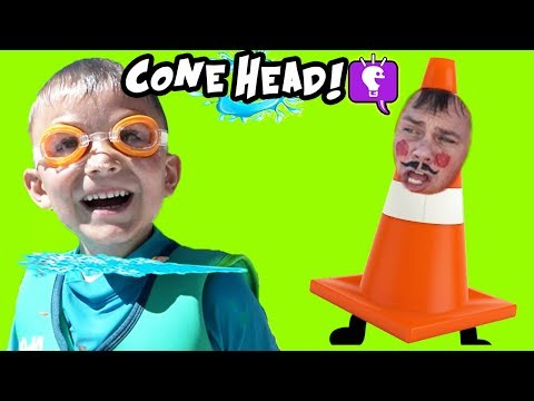 CAUTION CONE RUDE to HobbyKids! Summer Pool Surprise TOY Reviews