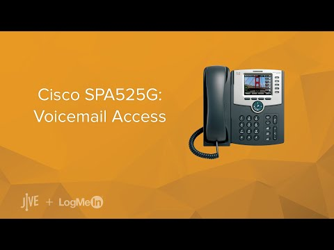 Cisco SPA525G: Voicemail Access