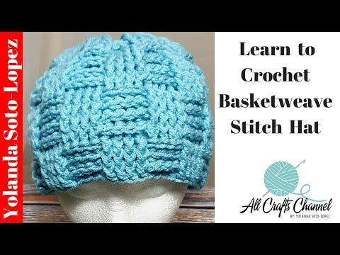 How to crochet a Basket weave stitch hat (Basketweave) Step-by-Step Video tutorial crocheting