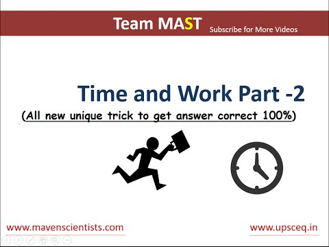Time and Work problems shortcuts and tricks (Part - 2) | Team MAST